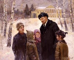 Ленин в Горках с детьми