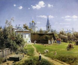 Русский художник Василий Поленов Московский дворик
