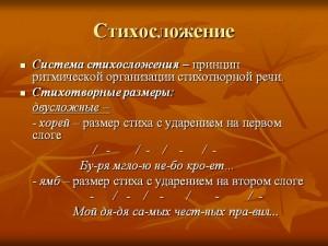 Стихосложение