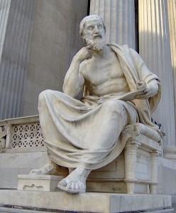 Первым крупным историком Древней Греции был Геродот из Галикарнаса (между 490 и 480—425 гг. до н. э.)