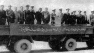 Празднование Первого Мая в 322-м афганском полку истребителей- бомбардировщиков. Шинданд. 1985 год.