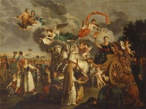 «Путешествие Екатерины II по России в 1787 г. Аллегория». Неизвестный художник