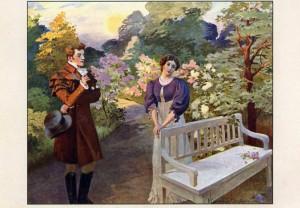 Иллюстрация. Евгений Онегин и Татьяна Ларина